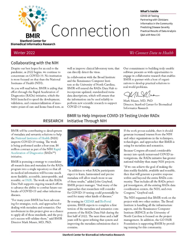 Thumbnail image of the cover of Fall 2021 BMIR Connection newsletter
